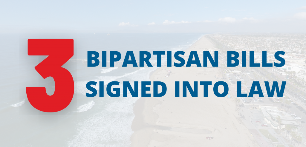 3 bipartisan bills signed into law