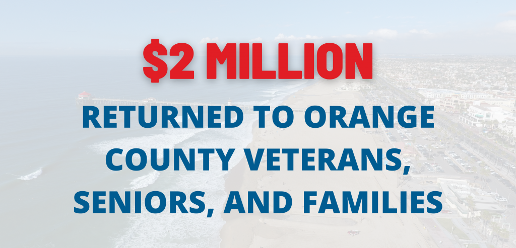 $2 million returned to Orange County veterans, seniors, and families